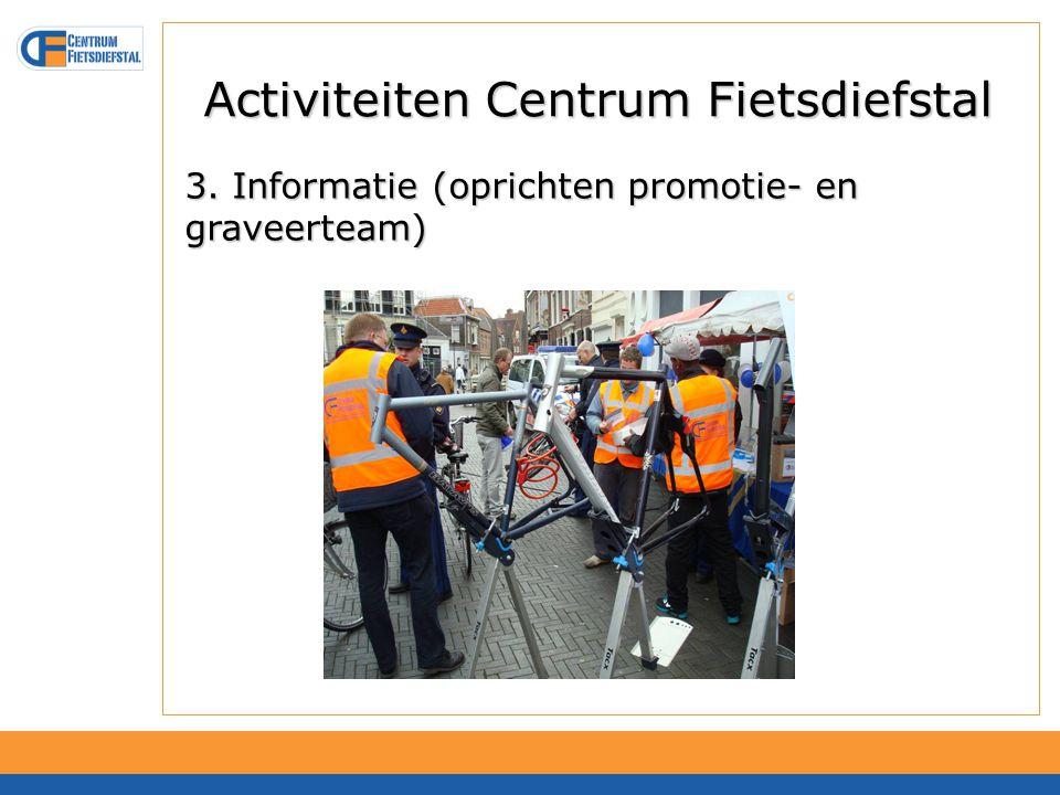 Activiteiten Centrum Fietsdiefstal 4. Concrete ondersteuning en middelen