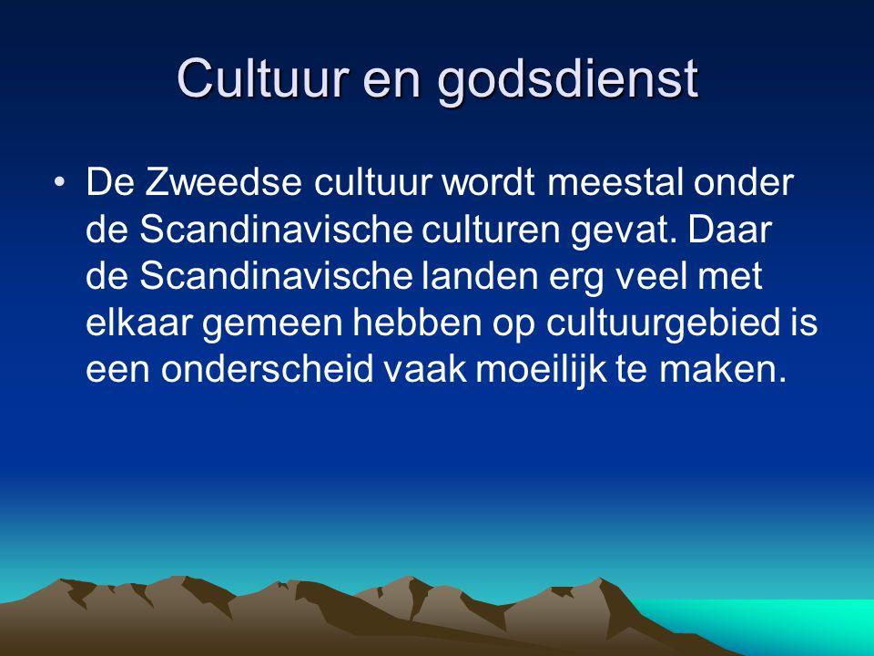 Cultuur en godsdienst De Zweedse cultuur wordt meestal onder de Scandinavische culturen gevat.