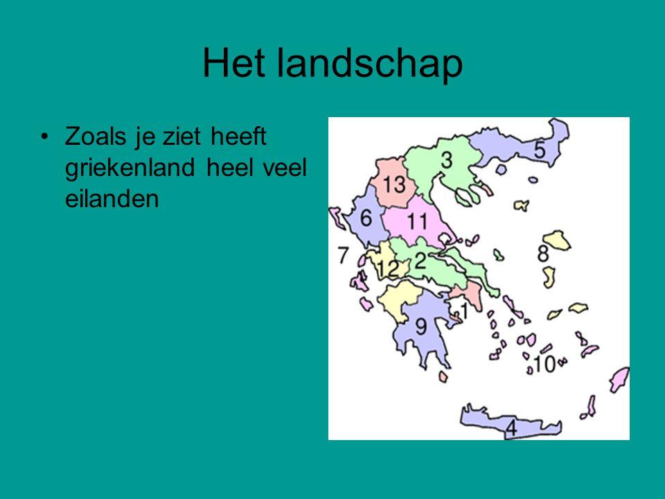 Het landschap Zoals je ziet heeft griekenland heel veel eilanden