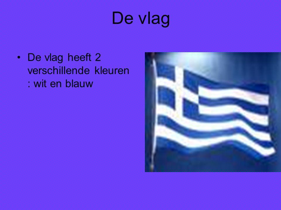 De vlag De vlag heeft 2 verschillende kleuren : wit en blauw