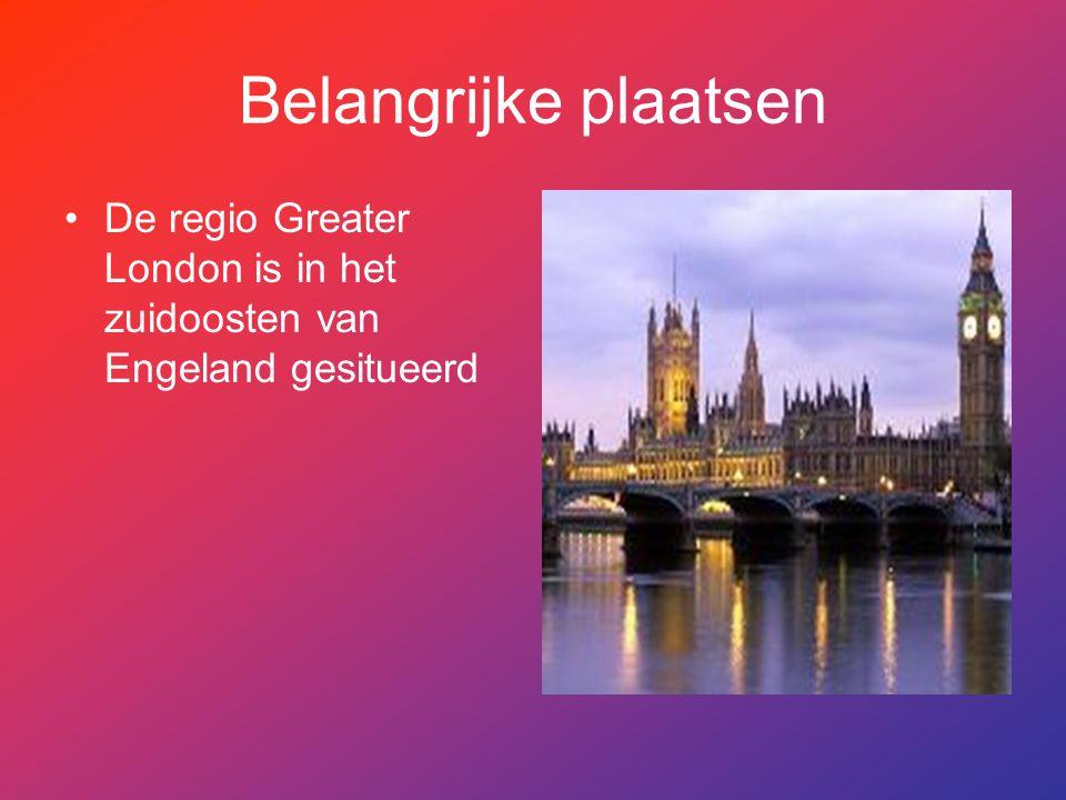 Belangrijke plaatsen De regio Greater London is in het zuidoosten van Engeland gesitueerd