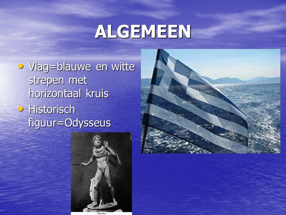 ALGEMEEN Vlag=blauwe en witte strepen met horizontaal kruis Vlag=blauwe en witte strepen met horizontaal kruis Historisch figuur=Odysseus Historisch f