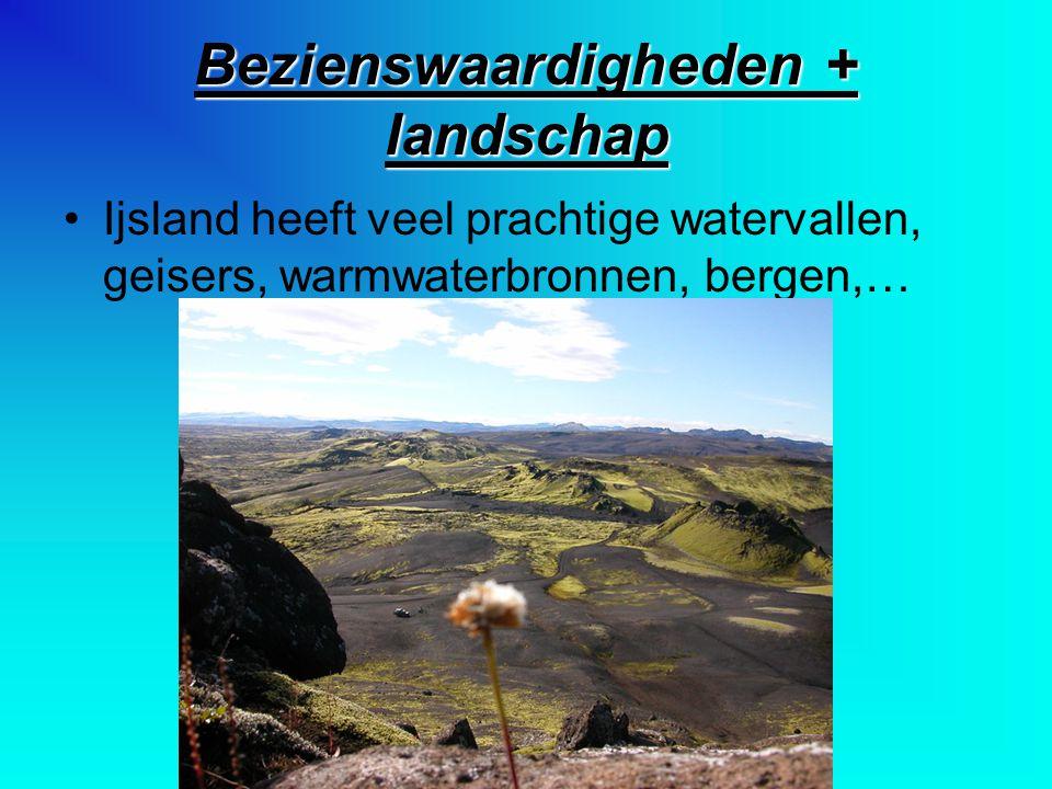 Bezienswaardigheden + landschap Ijsland heeft veel prachtige watervallen, geisers, warmwaterbronnen, bergen,…