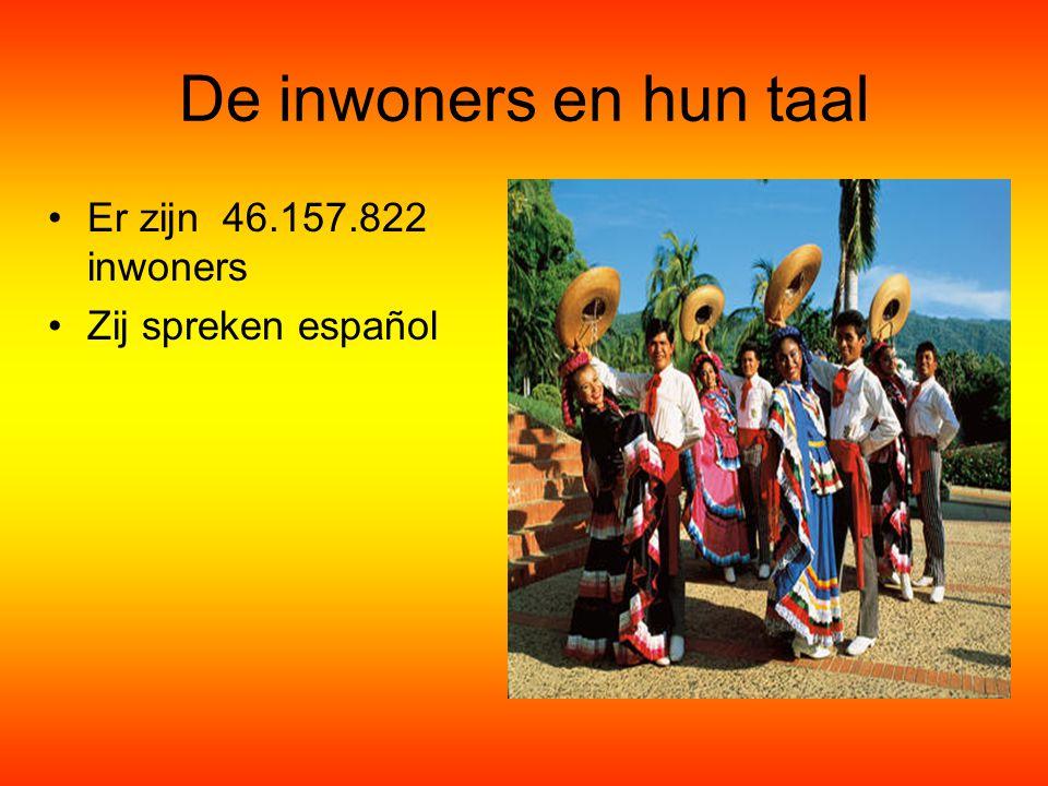 De inwoners en hun taal Er zijn 46.157.822 inwoners Zij spreken español