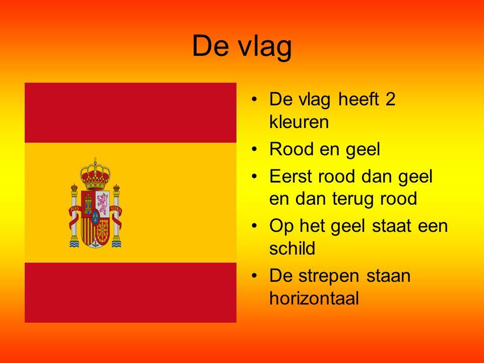 De vlag De vlag heeft 2 kleuren Rood en geel Eerst rood dan geel en dan terug rood Op het geel staat een schild De strepen staan horizontaal