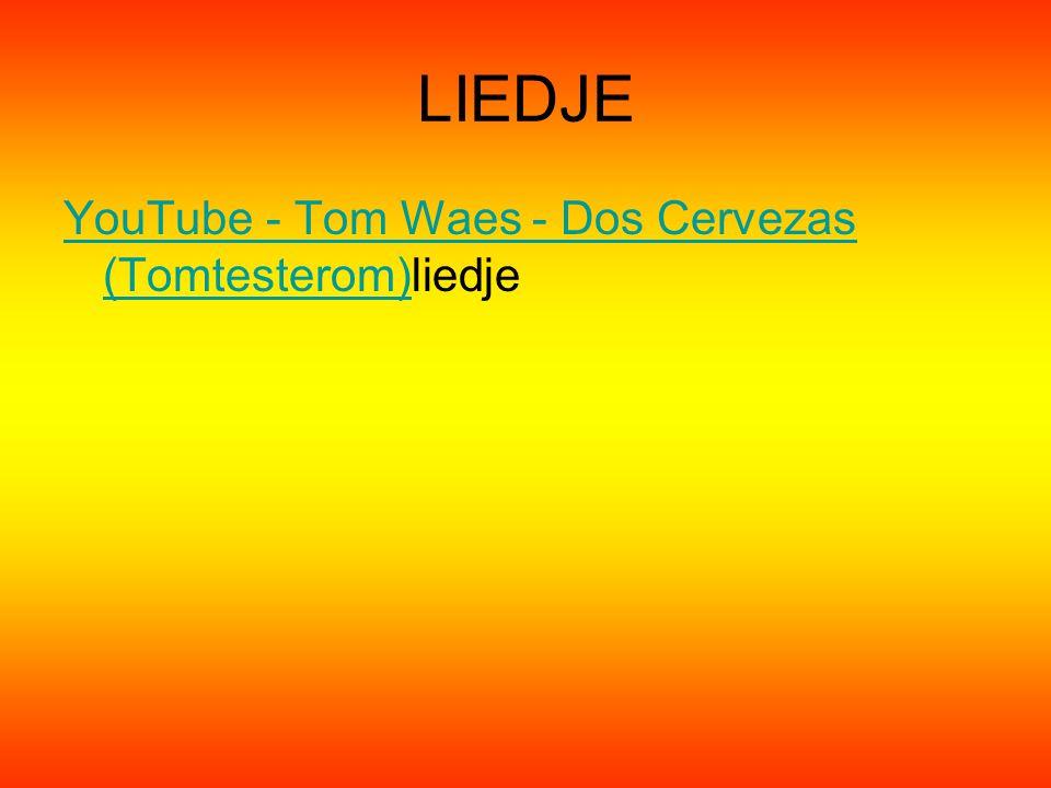 LIEDJE YouTube - Tom Waes - Dos Cervezas (Tomtesterom)YouTube - Tom Waes - Dos Cervezas (Tomtesterom)liedje