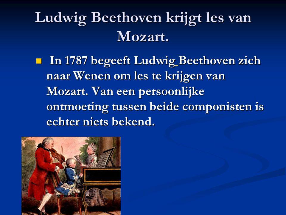 Ludwig Beethoven krijgt les van Mozart.