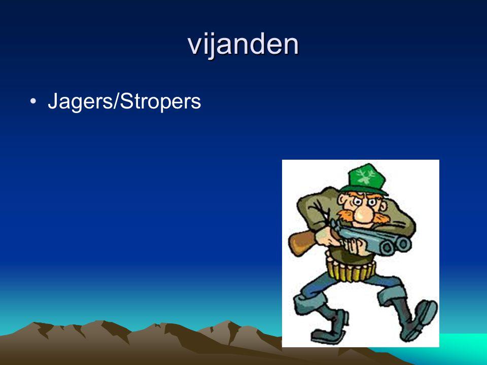 vijanden Jagers/Stropers