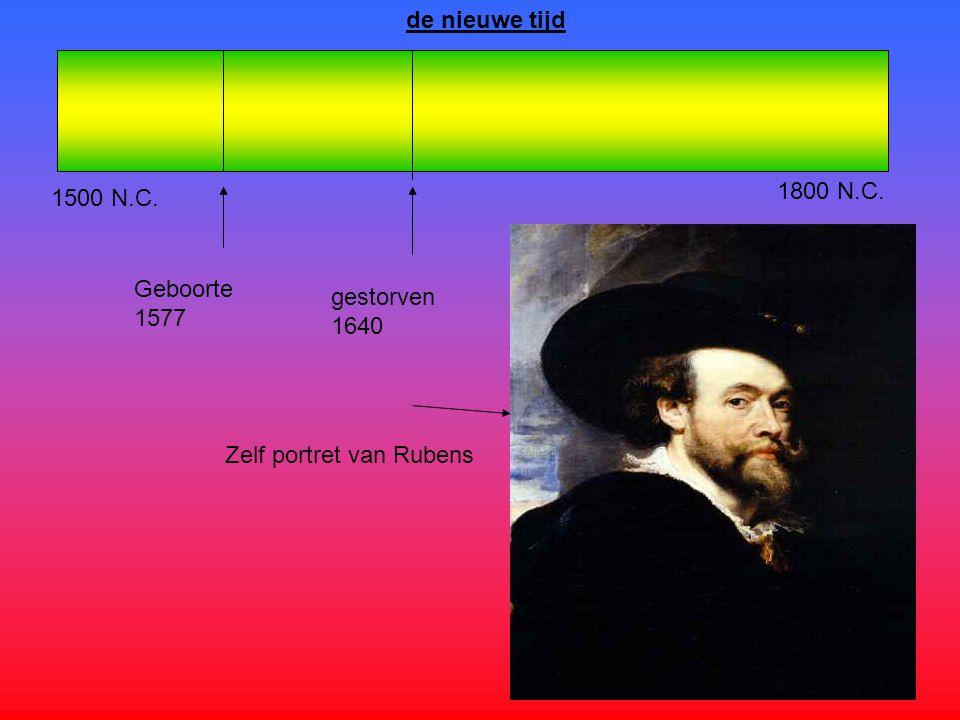 1500 N.C. de nieuwe tijd 1800 N.C. Geboorte 1577 gestorven 1640 Zelf portret van Rubens