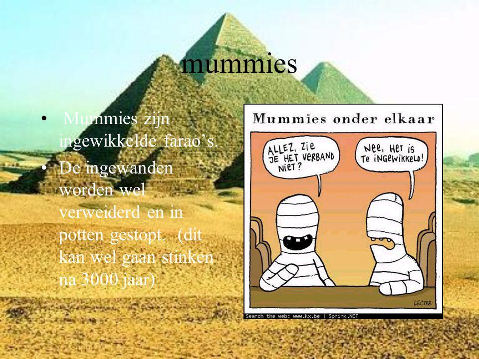 mummies Mummies zijn ingewikkelde farao's.