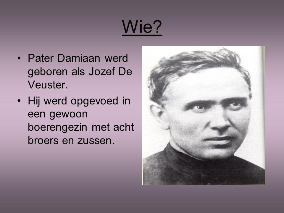 Wie.Pater Damiaan werd geboren als Jozef De Veuster.