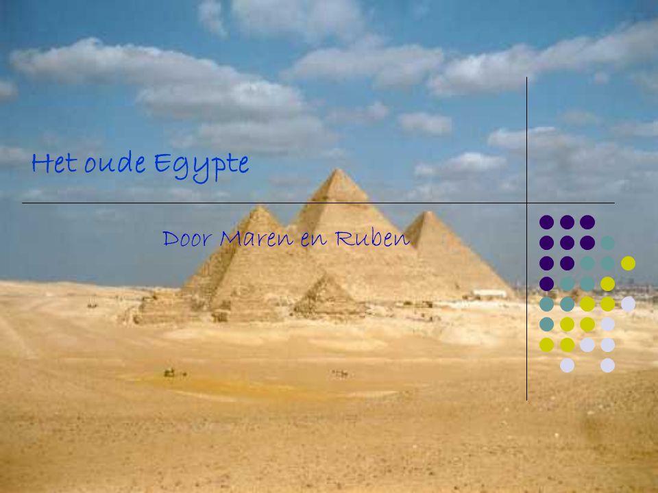 Het oude Egypte Door Maren en Ruben