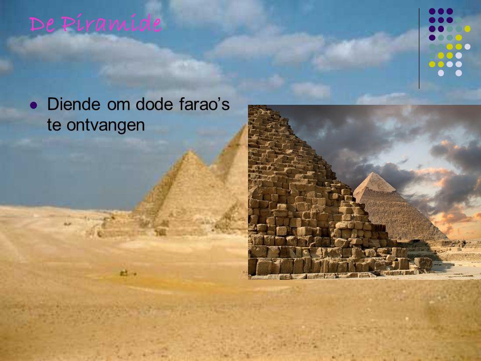 De Piramide Diende om dode farao's te ontvangen