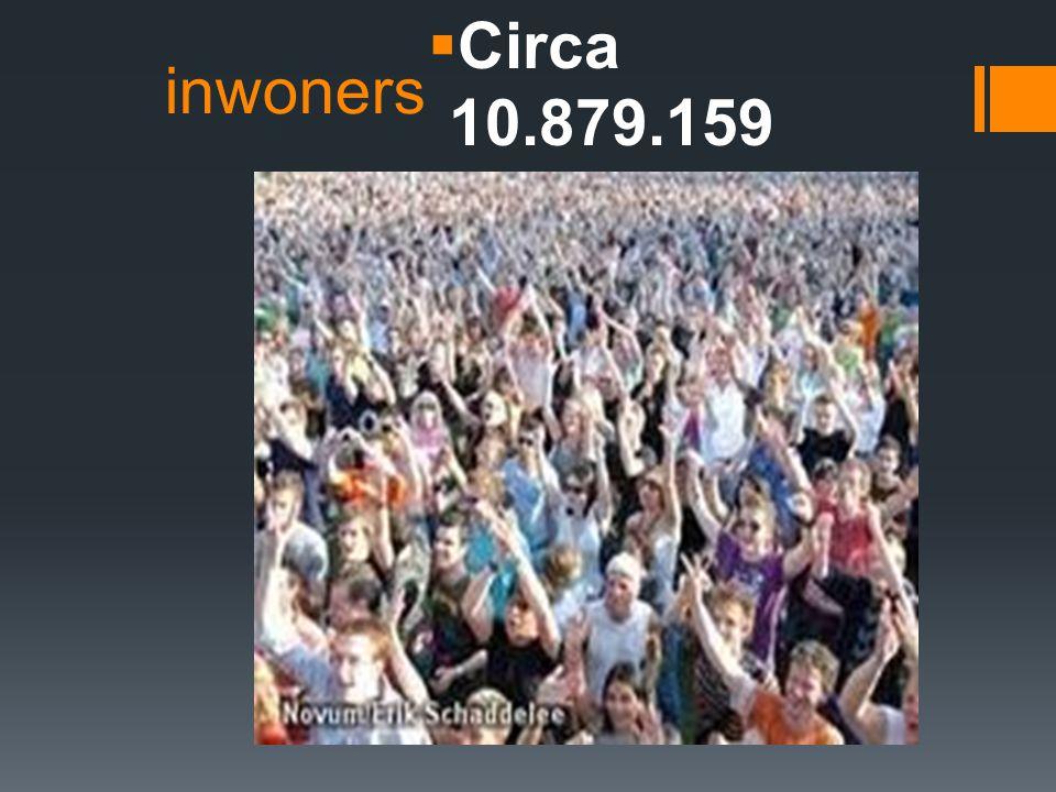 inwoners  Circa 10.879.159