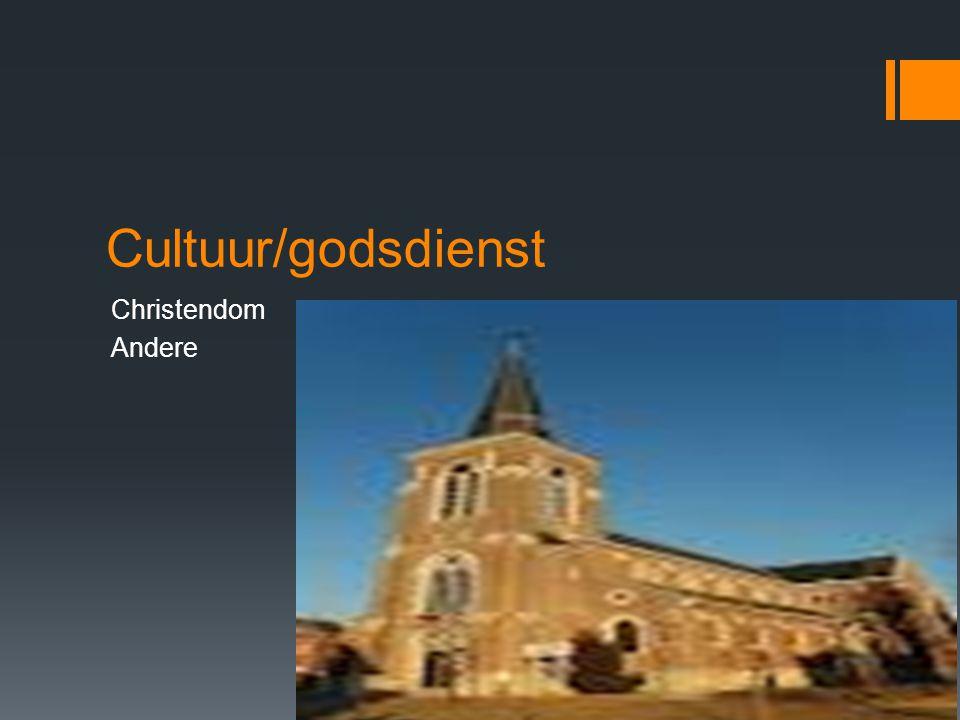 Cultuur/godsdienst Christendom Andere