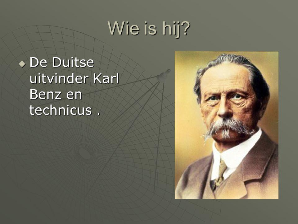 Wie is hij?  De Duitse uitvinder Karl Benz en technicus.