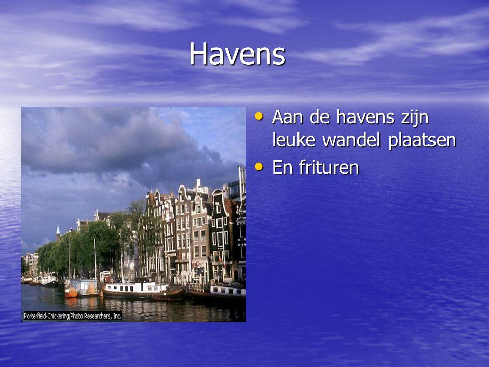 Havens Havens Aan de havens zijn leuke wandel plaatsen Aan de havens zijn leuke wandel plaatsen En frituren En frituren.