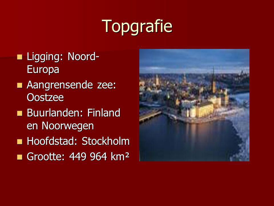 Topgrafie Ligging: Noord- Europa Ligging: Noord- Europa Aangrensende zee: Oostzee Aangrensende zee: Oostzee Buurlanden: Finland en Noorwegen Buurlande