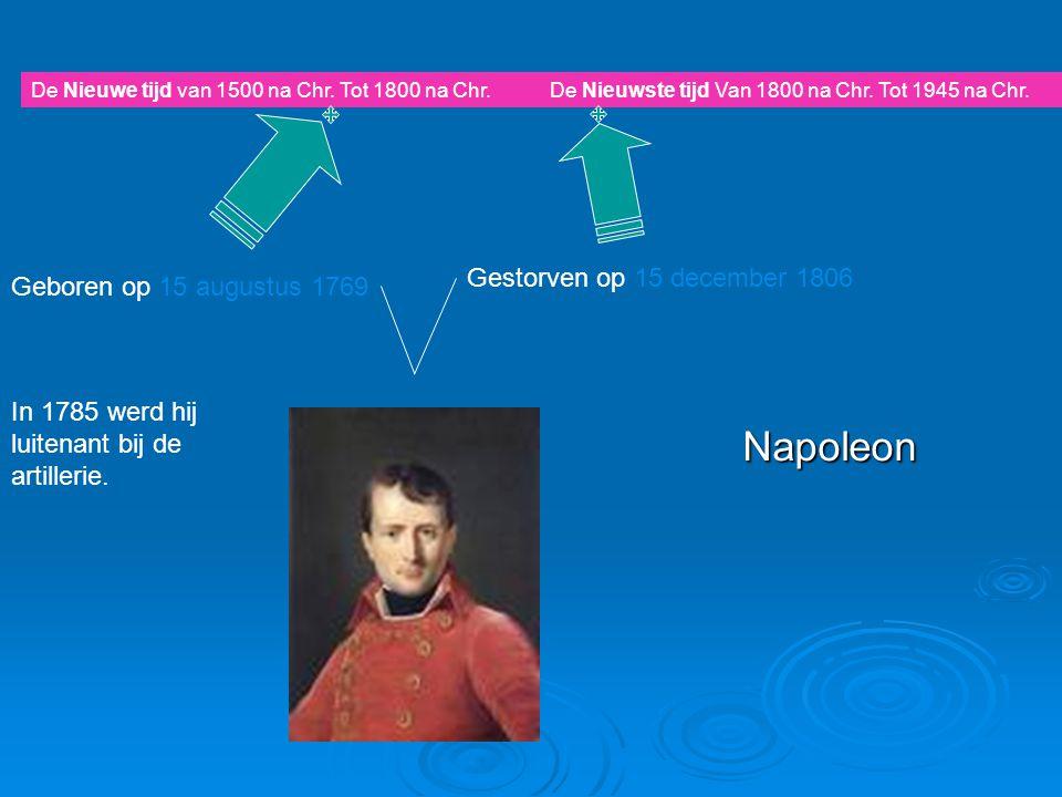 Weetjes over Napoleon  Er bestaat ook een snoepje dat naar napoleon genoemd is.
