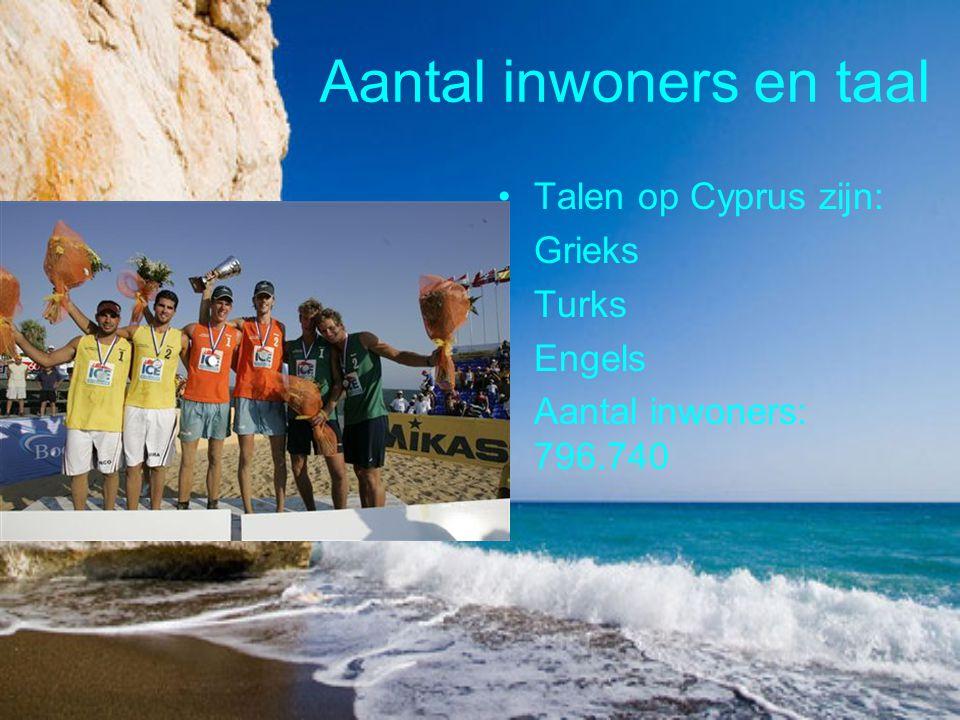 Aantal inwoners en taal Talen op Cyprus zijn: Grieks Turks Engels Aantal inwoners: 796.740