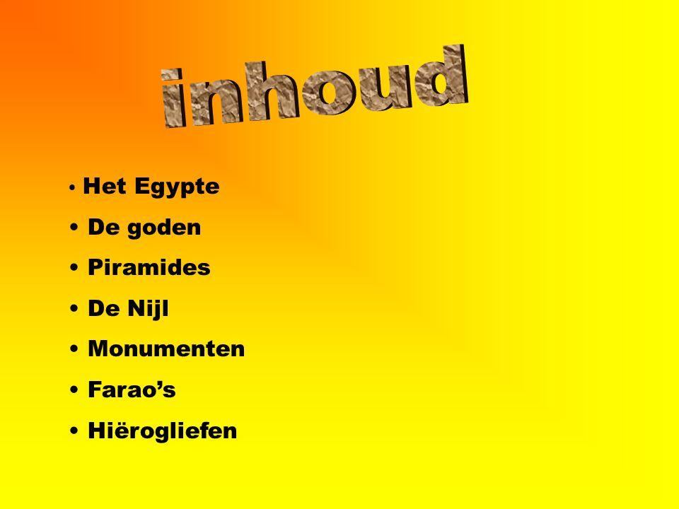 Het Egypte De goden Piramides De Nijl Monumenten Farao's Hiërogliefen