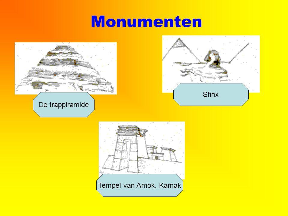 Monumenten De trappiramide Sfinx Tempel van Amok, Kamak