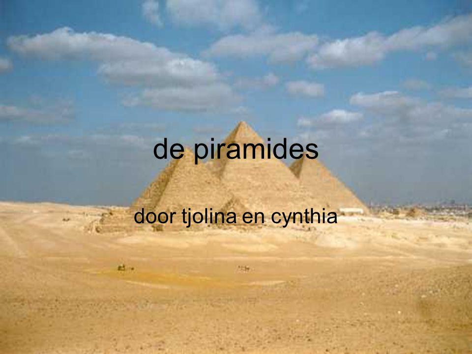 de piramides door tjolina en cynthia