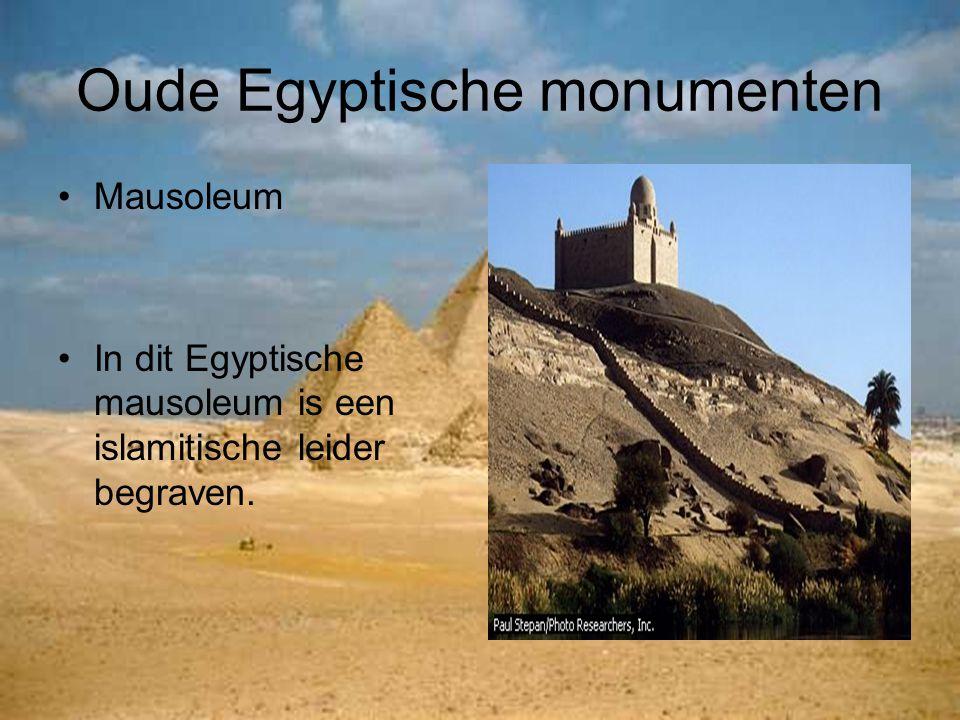 Oude Egyptische monumenten Mausoleum In dit Egyptische mausoleum is een islamitische leider begraven.