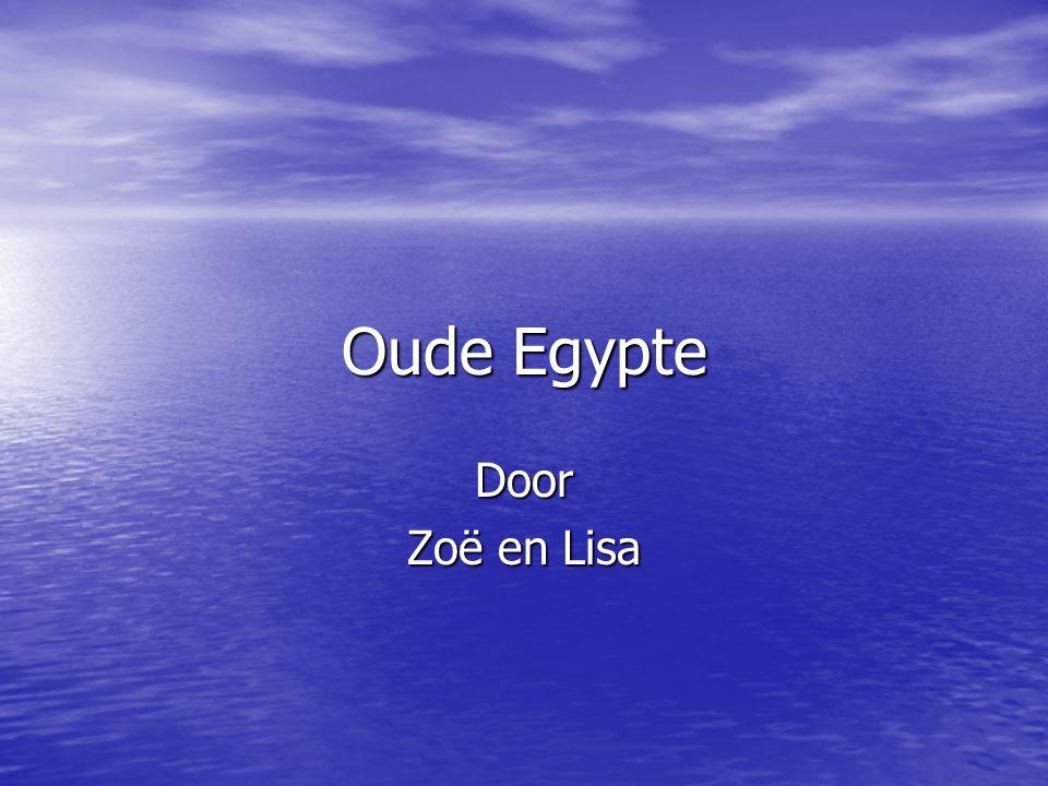 Oude Egypte Door Zoë en Lisa