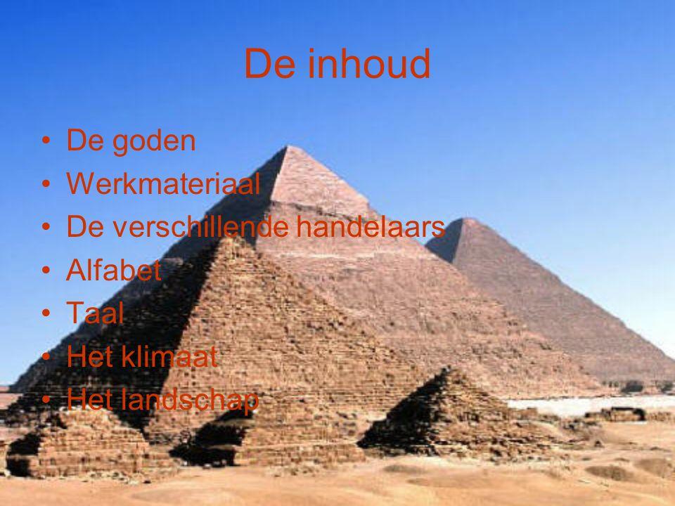Het landschap Egypte is een warm en droog land en bestaat alleen maar uit woestijn.