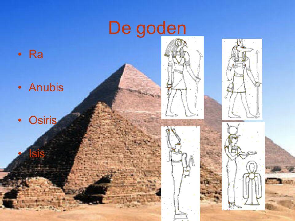 De goden Ra Anubis Osiris Isis