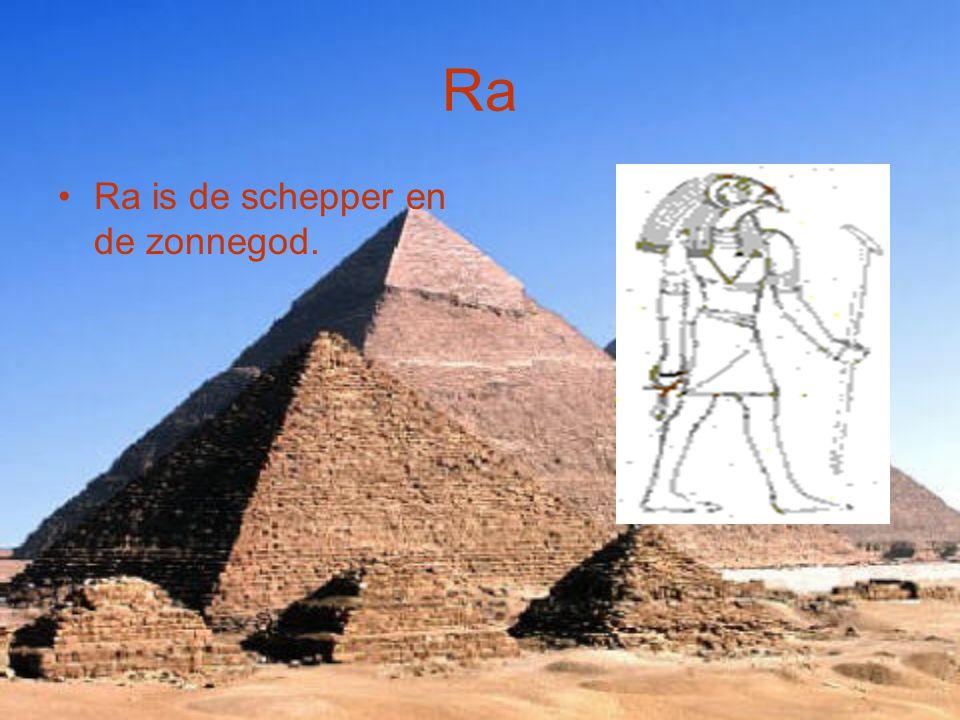 Anubis Anubis is de god van begraafplaatsen en balsemingen.