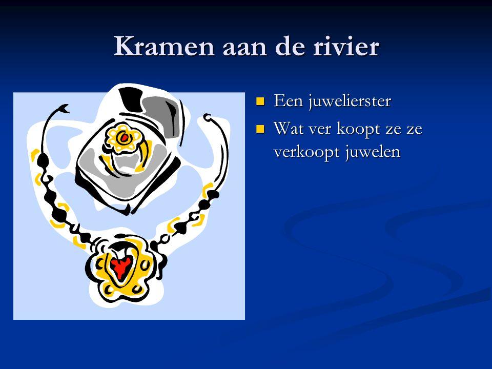 Kramen aan de rivier Een juwelierster Wat ver koopt ze ze verkoopt juwelen