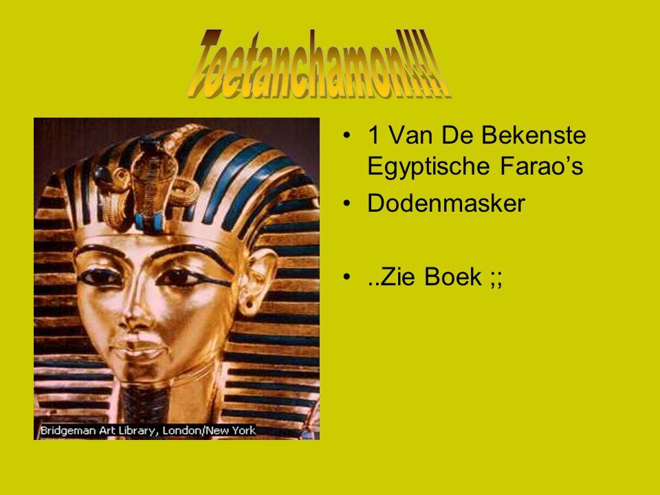 1 Van De Bekenste Egyptische Farao's Dodenmasker..Zie Boek ;;