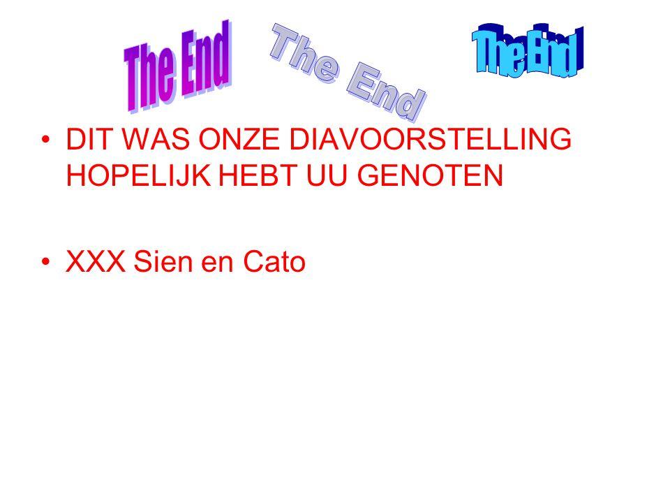 DIT WAS ONZE DIAVOORSTELLING HOPELIJK HEBT UU GENOTEN XXX Sien en Cato