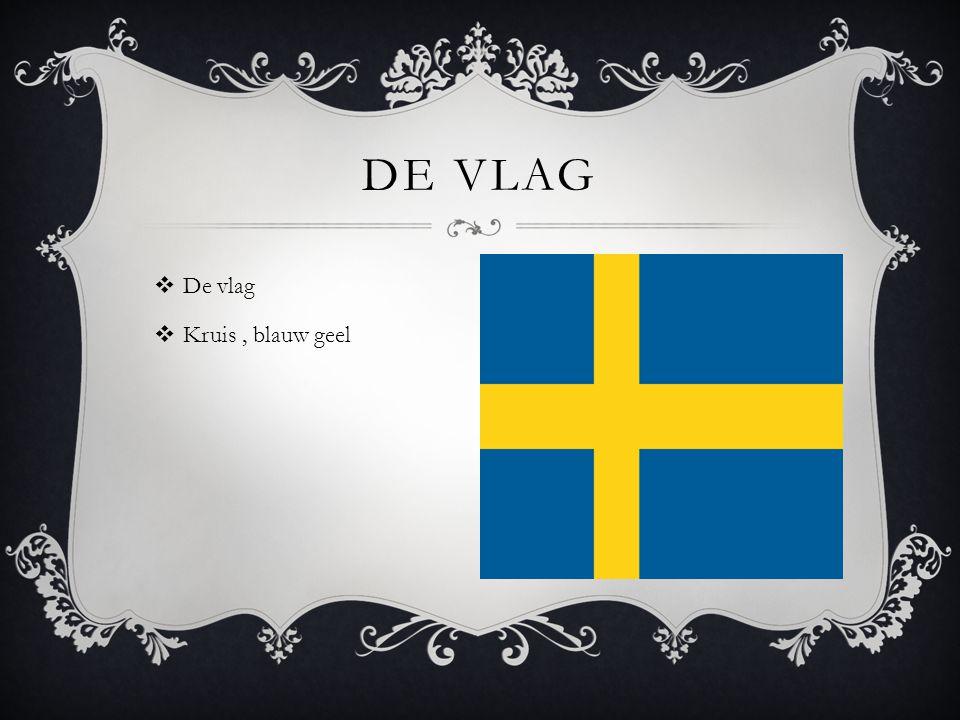  De vlag  Kruis, blauw geel DE VLAG