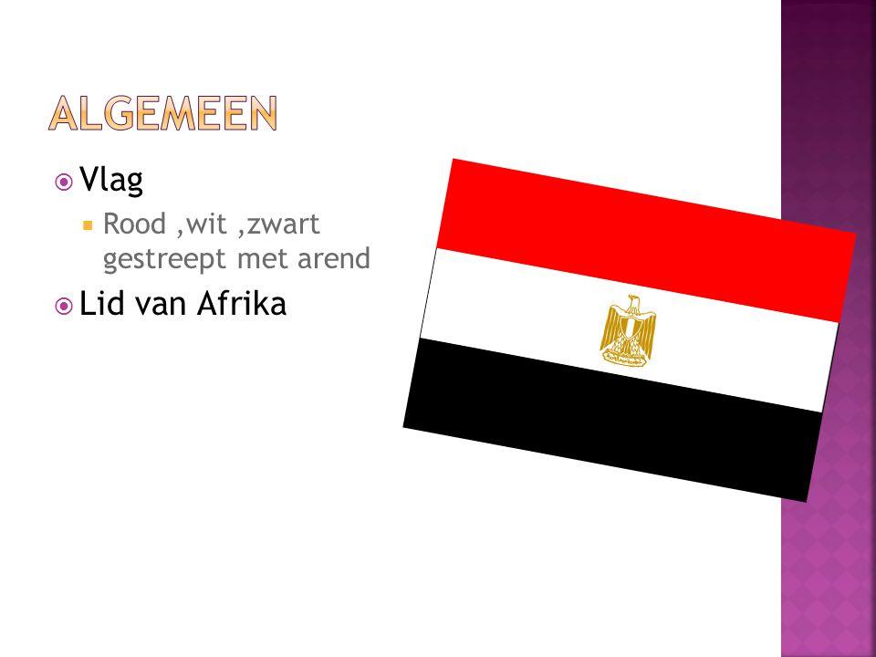  Vlag  Rood,wit,zwart gestreept met arend  Lid van Afrika