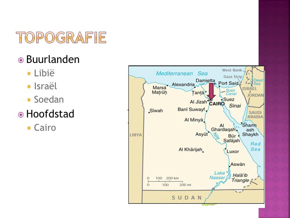  Buurlanden  Libië  Israël  Soedan  Hoofdstad  Cairo