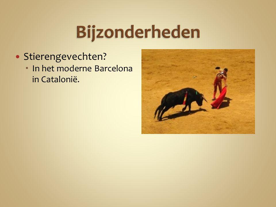 Stierengevechten  In het moderne Barcelona in Catalonië.