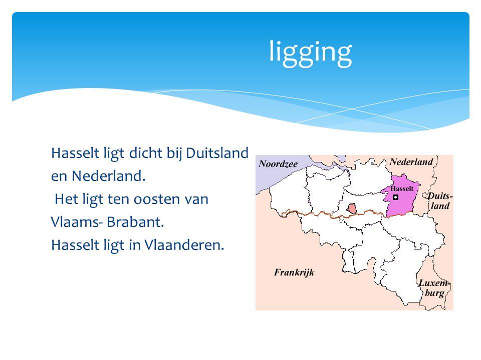 Hasselt ligt dicht bij Duitsland en Nederland. Het ligt ten oosten van Vlaams- Brabant. Hasselt ligt in Vlaanderen. ligging