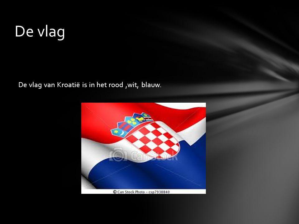 De vlag van Kroatië is in het rood,wit, blauw. De vlag