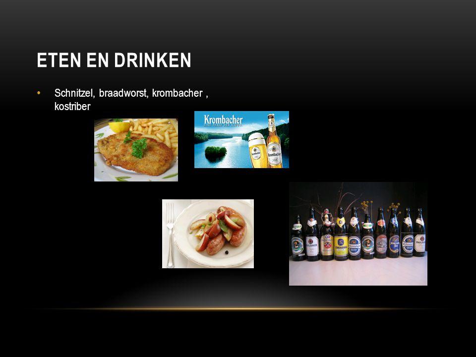 Schnitzel, braadworst, krombacher, kostriber ETEN EN DRINKEN