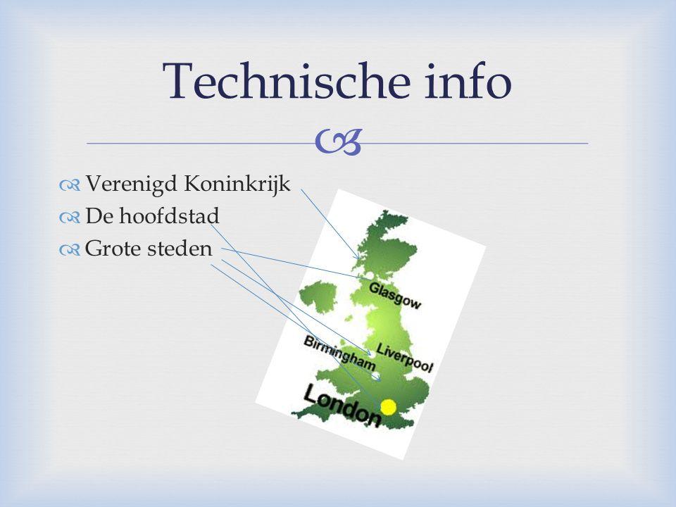   Verenigd Koninkrijk  De hoofdstad  Grote steden Technische info