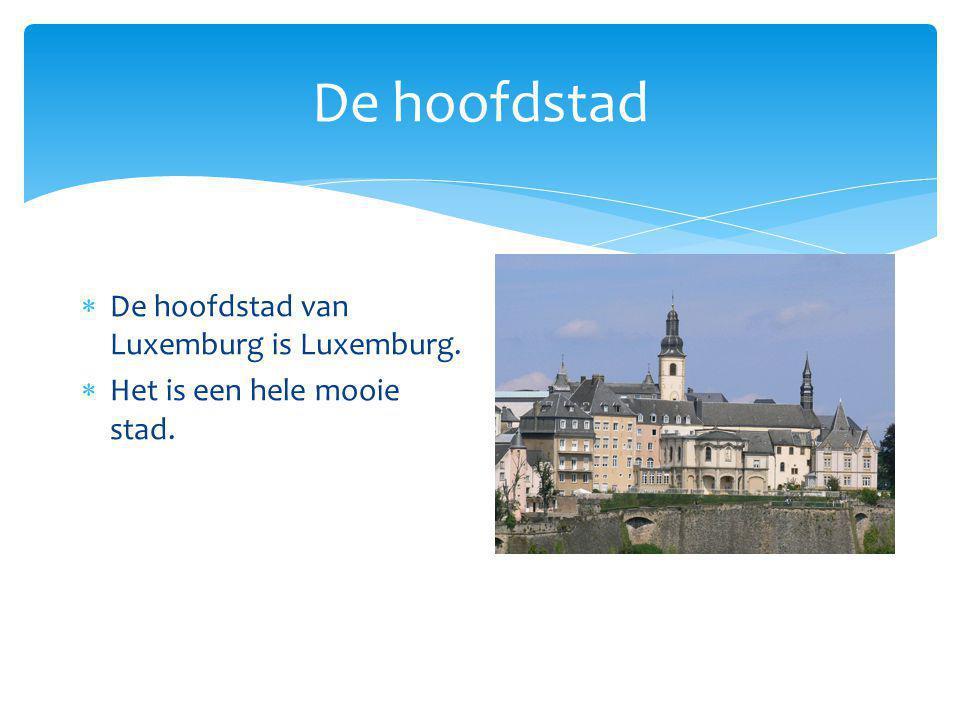 De hoofdstad  De hoofdstad van Luxemburg is Luxemburg.  Het is een hele mooie stad.  Hoofdstad Luxemburg