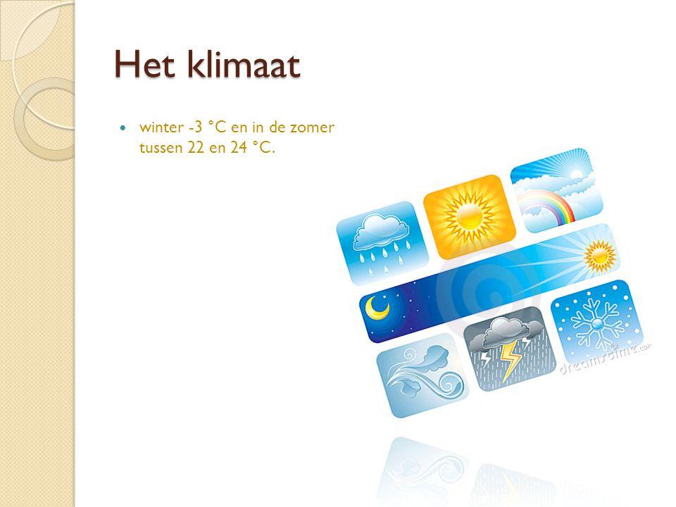 Het klimaat winter -3 °C en in de zomer tussen 22 en 24 °C.