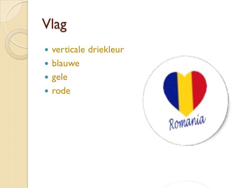 Vlag verticale driekleur blauwe gele rode