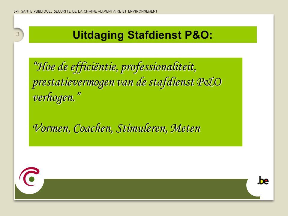 3 Hoe de efficiëntie, professionaliteit, prestatievermogen van de stafdienst P&O verhogen. Vormen, Coachen, Stimuleren, Meten Uitdaging Stafdienst P&O: