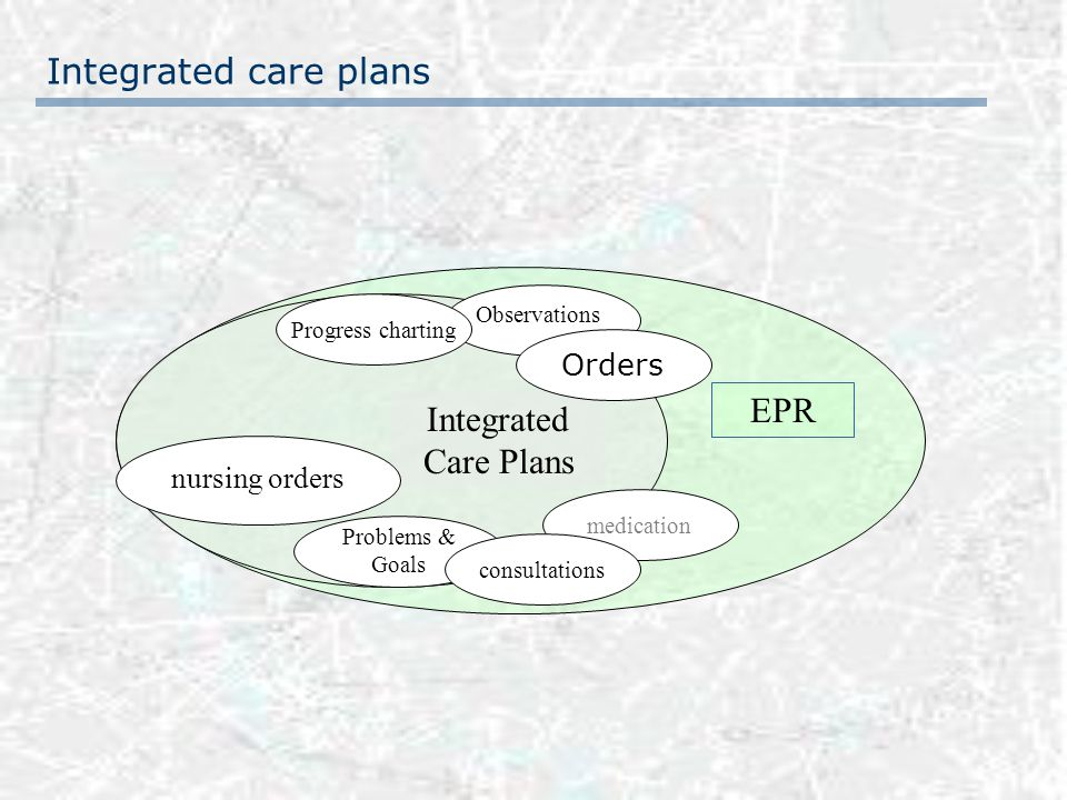 EPR & ordercommunication layers since 1996 Clinical pathways in preparation since 2001 Hospitalwide gathering and structuring of all existing procedures Multidisciplinary workgroups Creation of ordersets and multidisciplinary careplans Definition of observations, progress charting, problems & outcomes Creation specific for department, pathology or even physician in charge Design & implementation