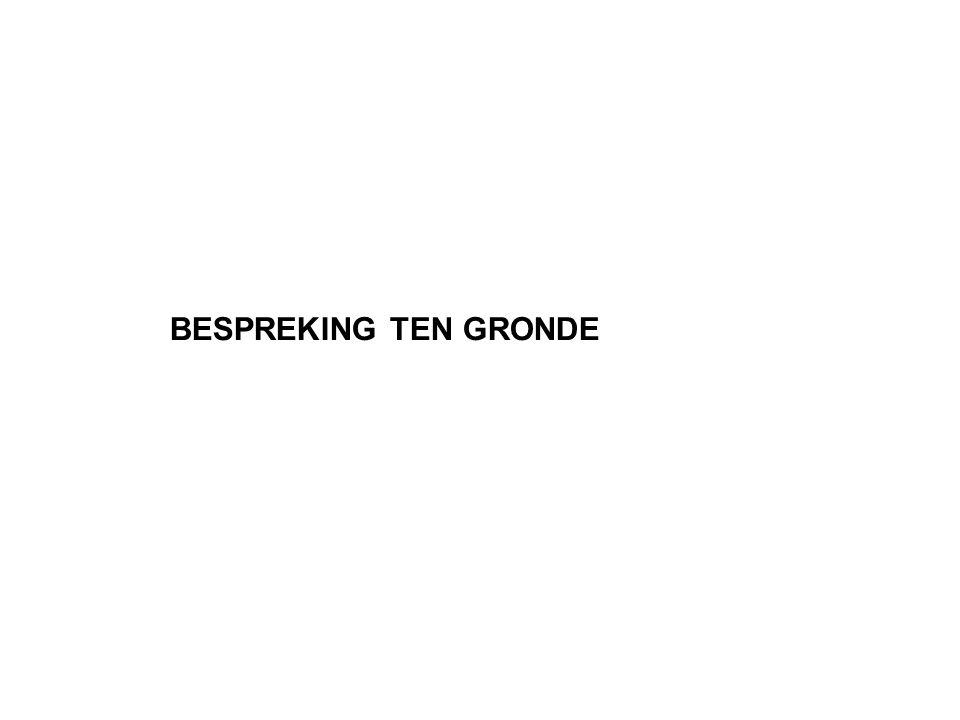 BESPREKING TEN GRONDE