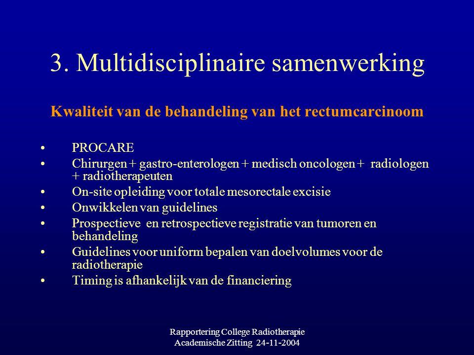 Rapportering College Radiotherapie Academische Zitting 24-11-2004 3.
